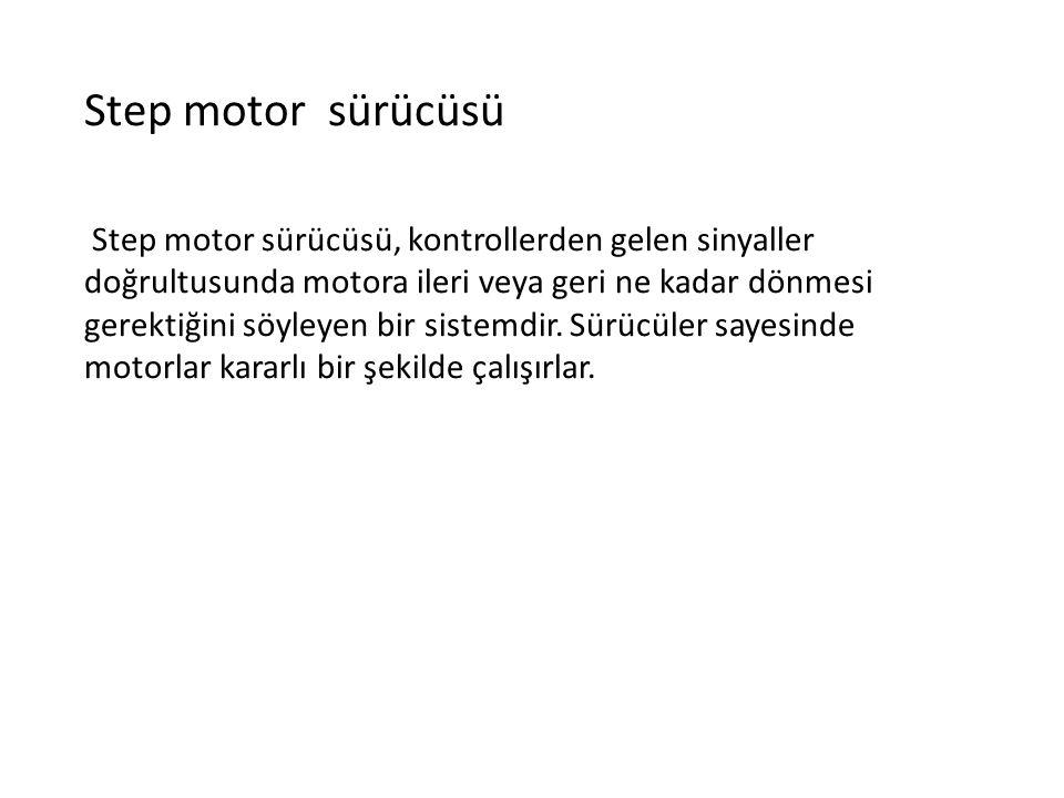 Step motor sürücüsü