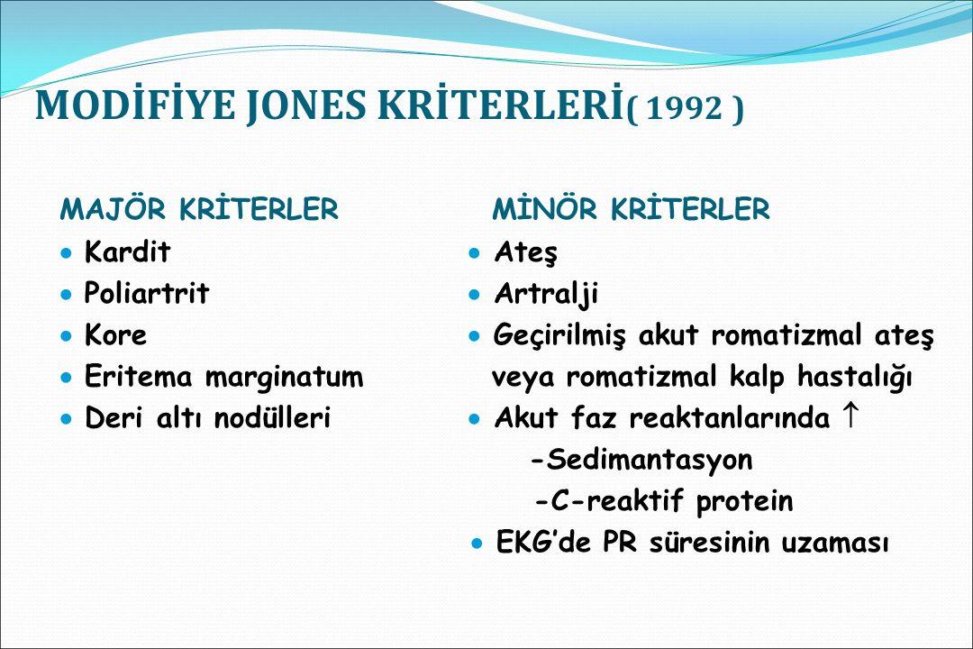 MODİFİYE JONES KRİTERLERİ( 1992 )