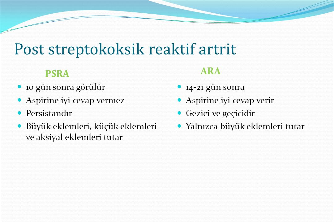 Post streptokoksik reaktif artrit