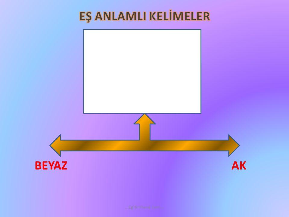 EŞ ANLAMLI KELİMELER BEYAZ AK …Egitimhane.com…