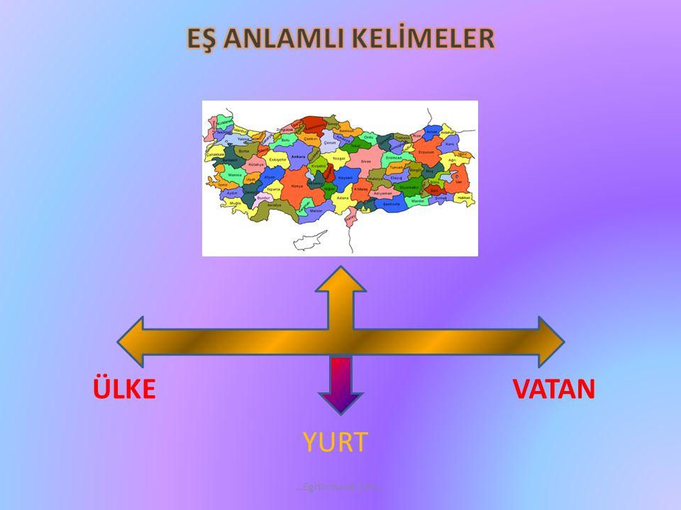 EŞ ANLAMLI KELİMELER ÜLKE VATAN YURT …Egitimhane.com…