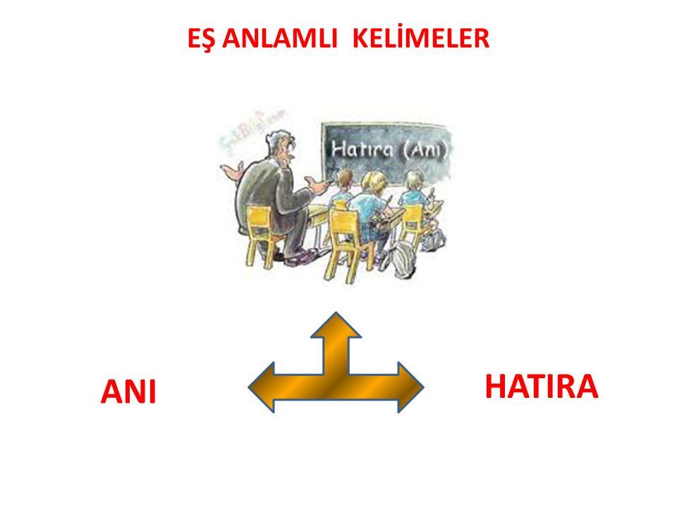 EŞ ANLAMLI KELİMELER HATIRA ANI