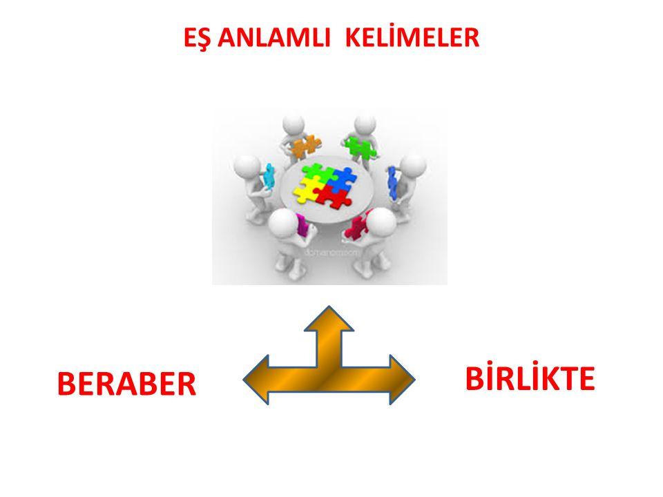 EŞ ANLAMLI KELİMELER BİRLİKTE BERABER