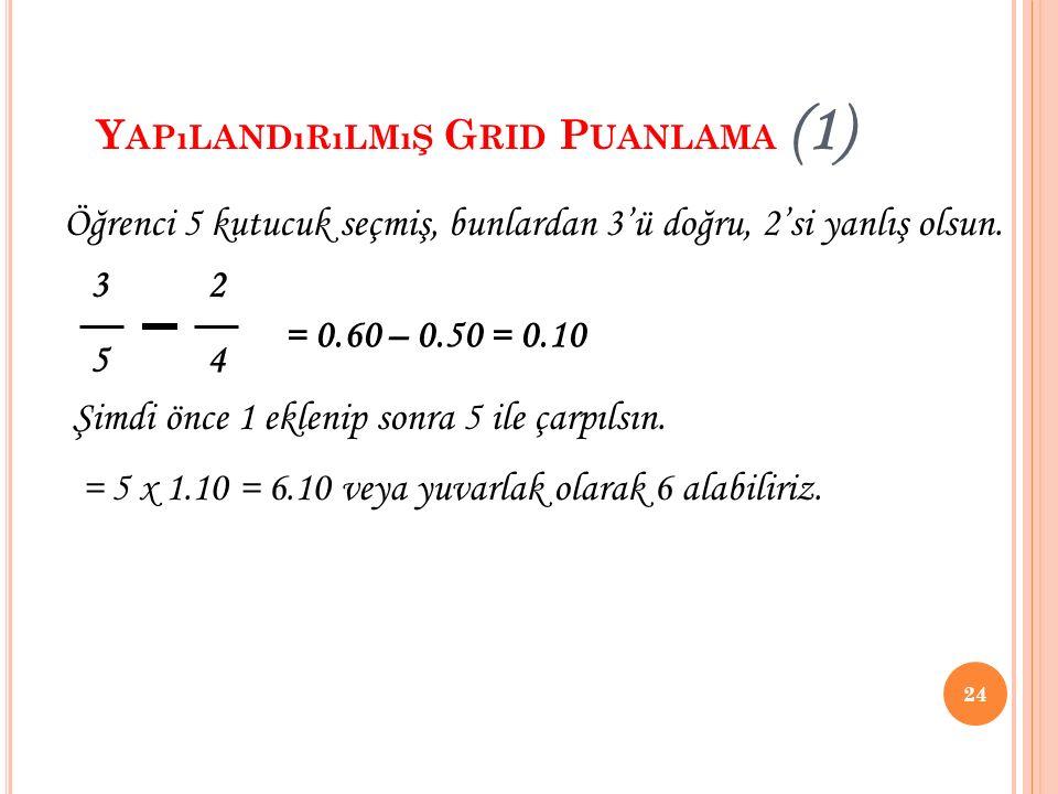 Yapılandırılmış Grid Puanlama (1)