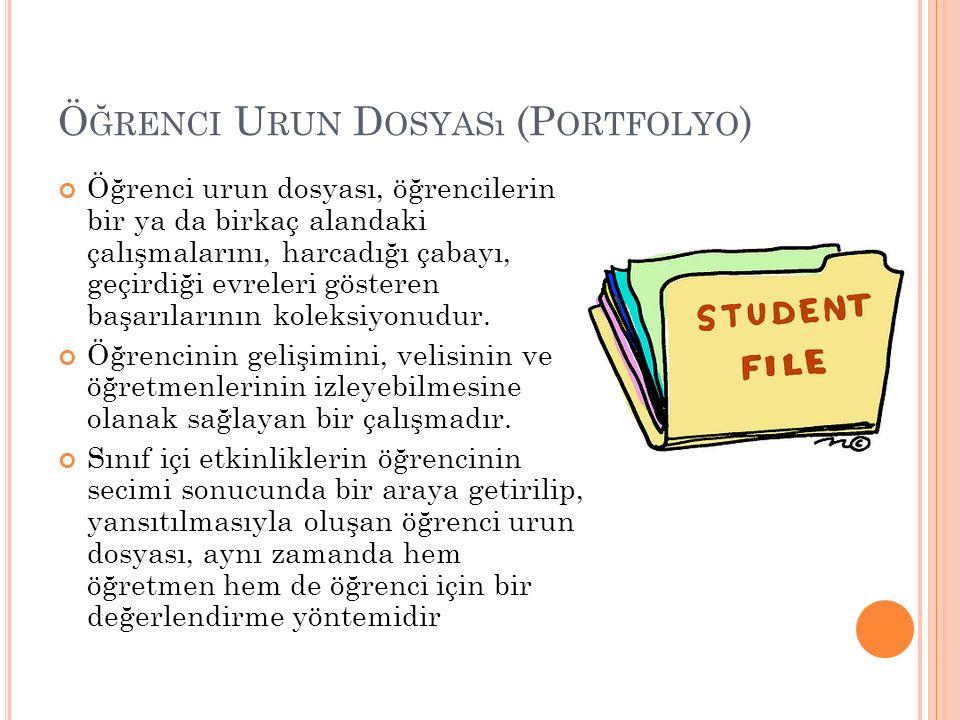 Öğrenci Urun Dosyası (Portfolyo)