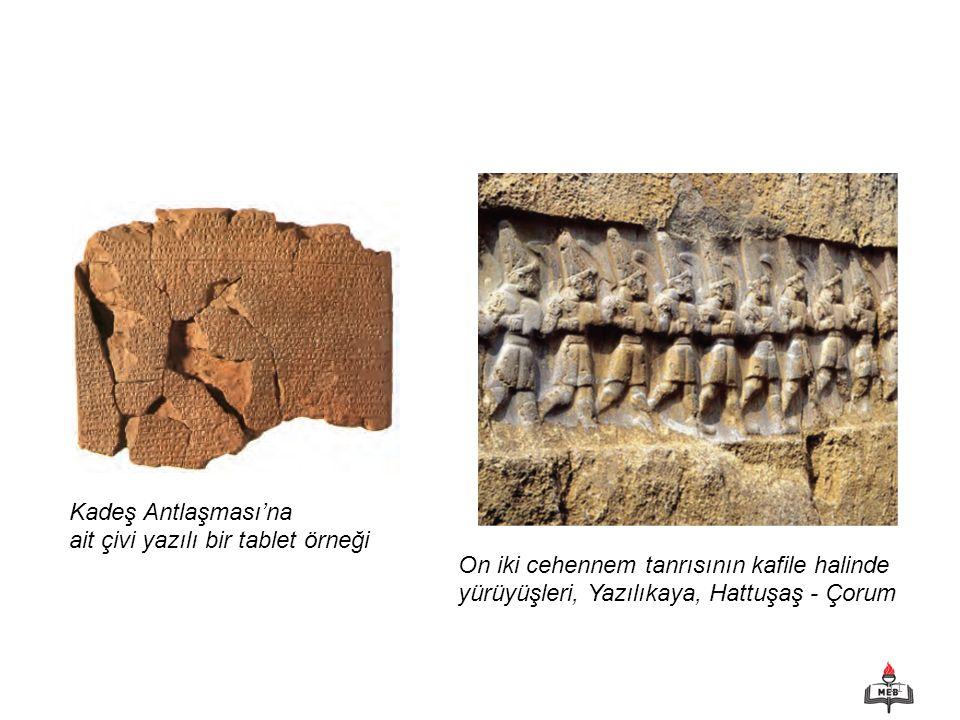 Kadeş Antlaşması'na ait çivi yazılı bir tablet örneği.