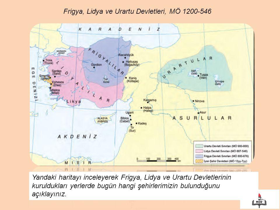 Frigya, Lidya ve Urartu Devletleri, MÖ 1200-546