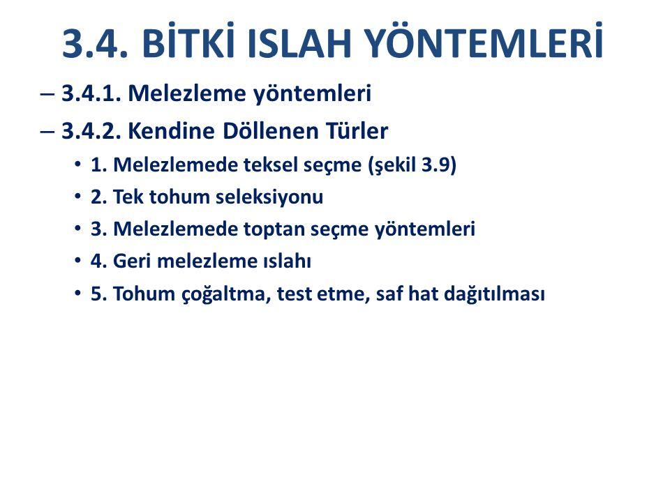 3.4. BİTKİ ISLAH YÖNTEMLERİ