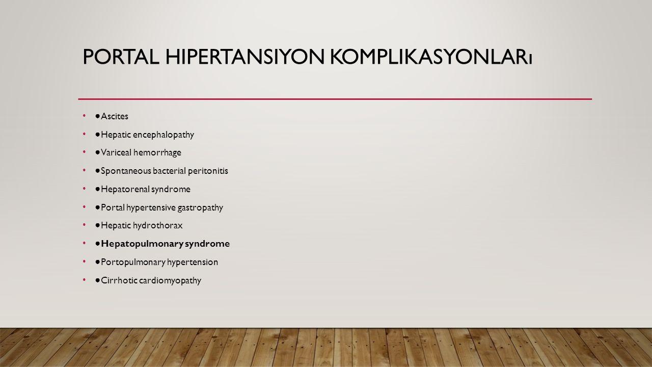Portal hipertansiyon komplikasyonları