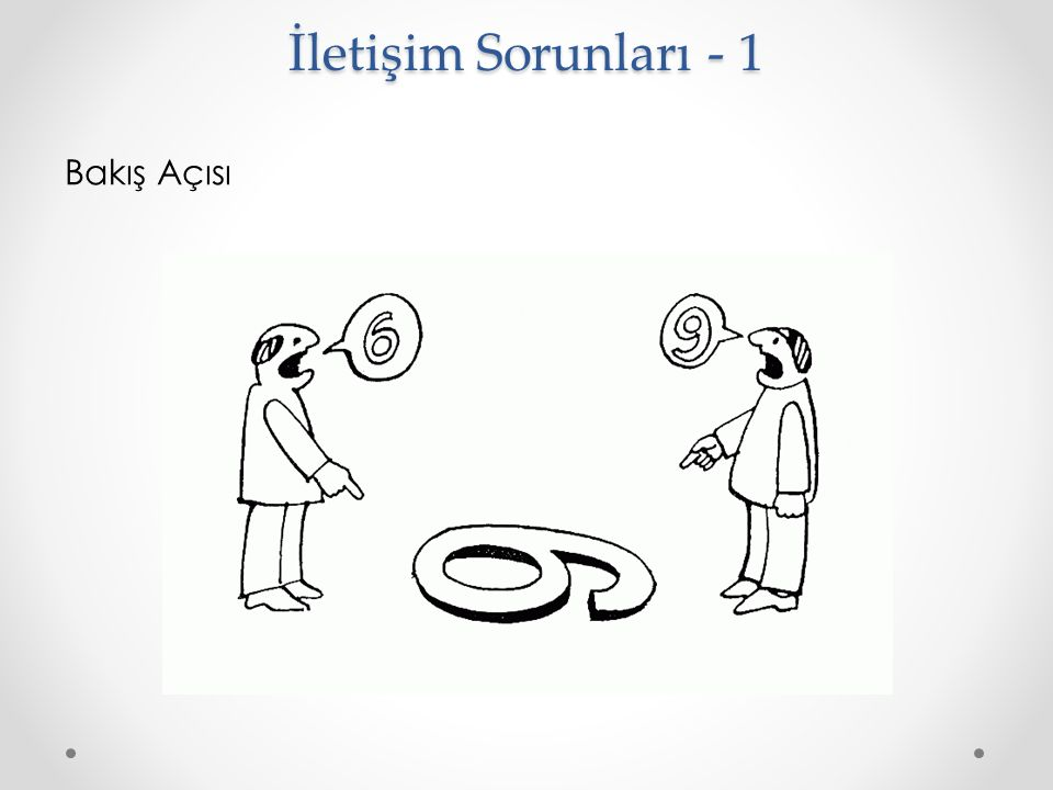 İletişim Sorunları - 1 Bakış Açısı