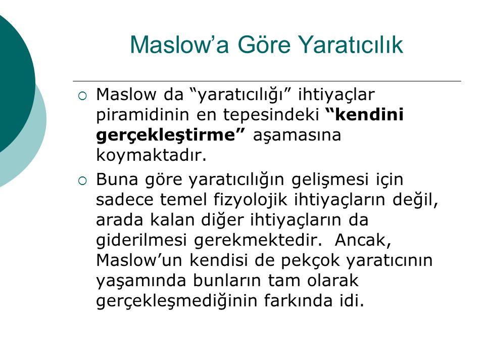 Maslow'a Göre Yaratıcılık