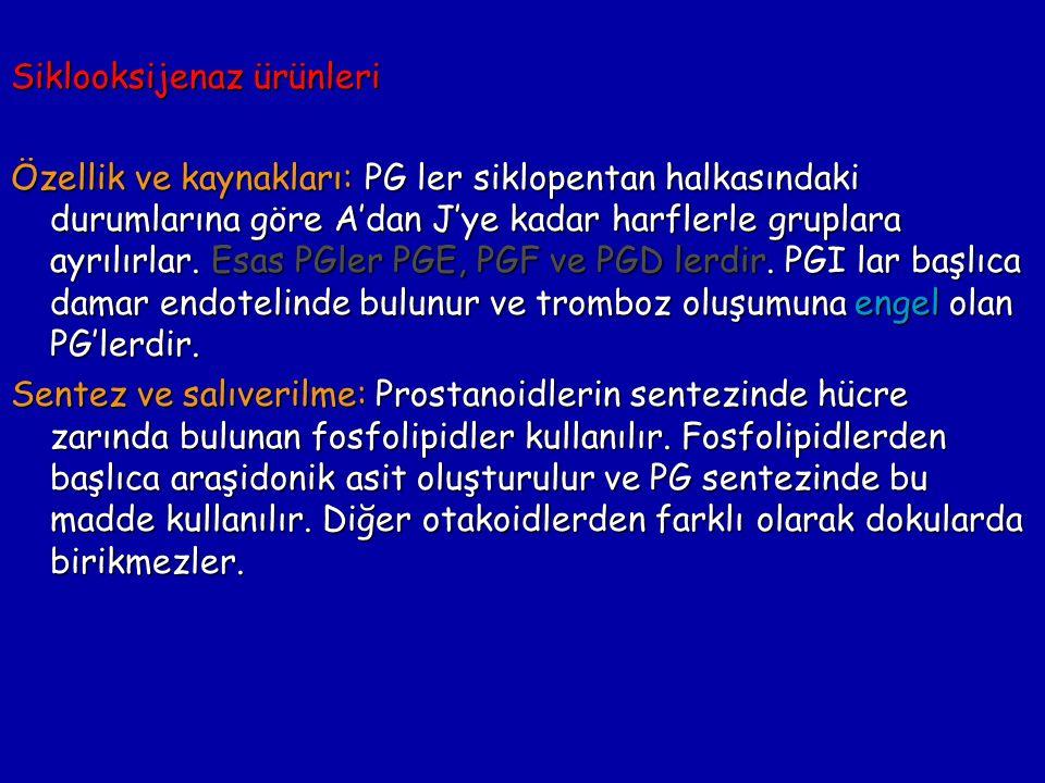 Siklooksijenaz ürünleri