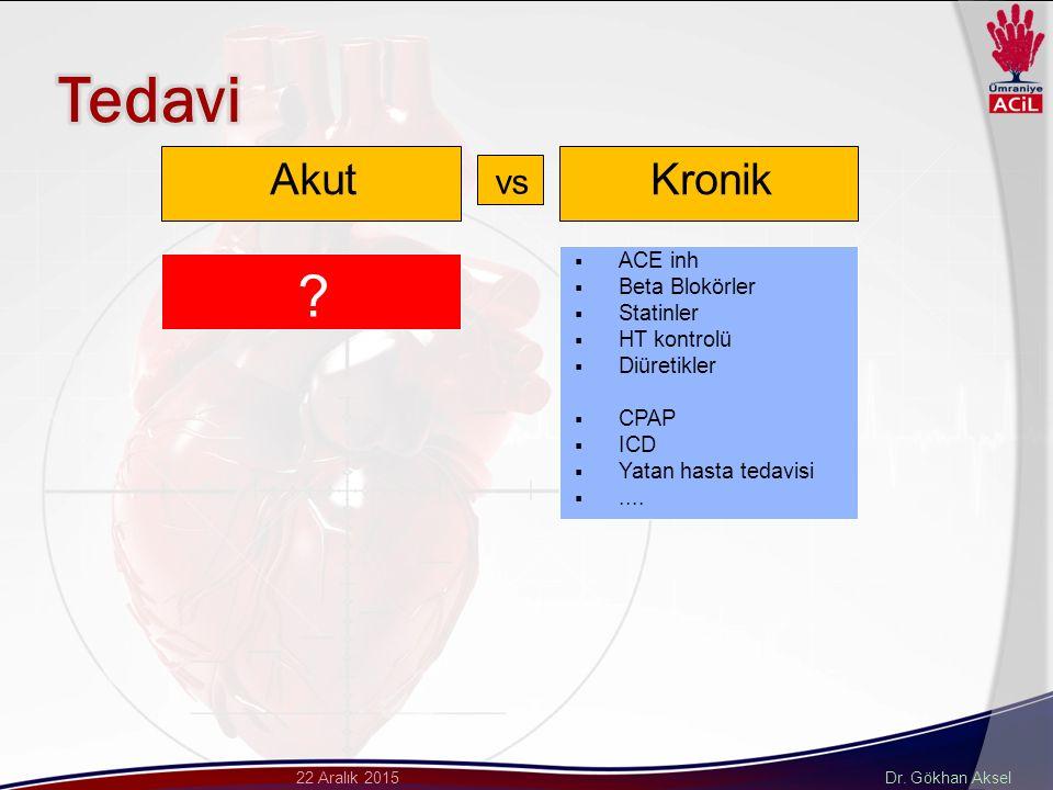 Tedavi Akut Kronik vs ACE inh Beta Blokörler Statinler HT kontrolü