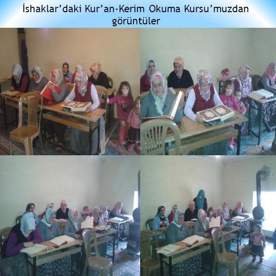 İshaklar'daki Kur'an-Kerim Okuma Kursu'muzdan görüntüler