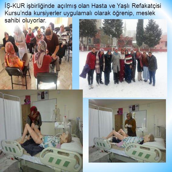 İŞ-KUR işbirliğinde açılmış olan Hasta ve Yaşlı Refakatçisi Kursu'nda kursiyerler uygulamalı olarak öğrenip, meslek sahibi oluyorlar.