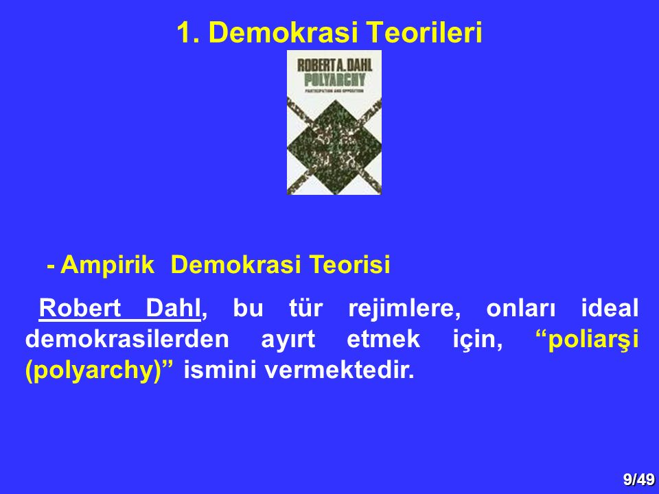 1. Demokrasi Teorileri - Ampirik Demokrasi Teorisi