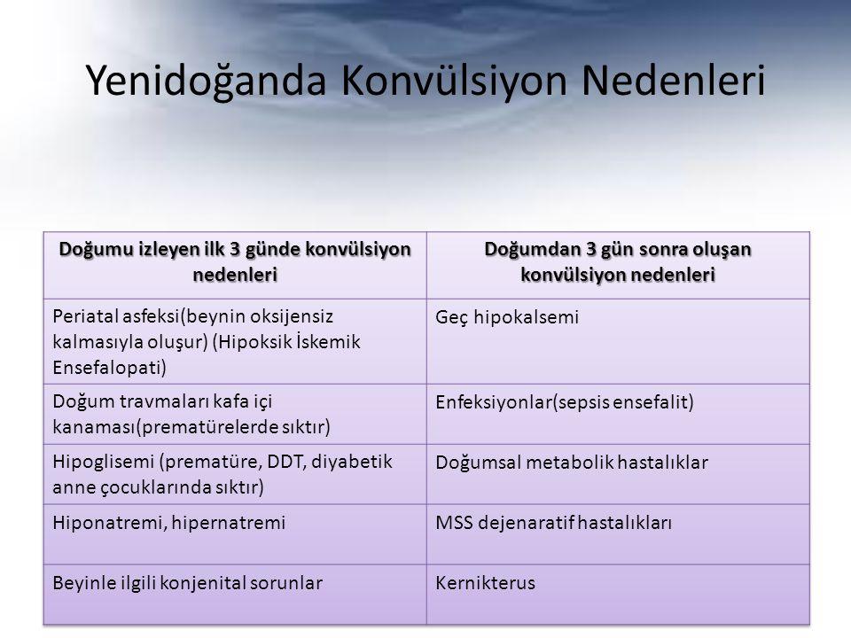 Yenidoğanda Konvülsiyon Nedenleri