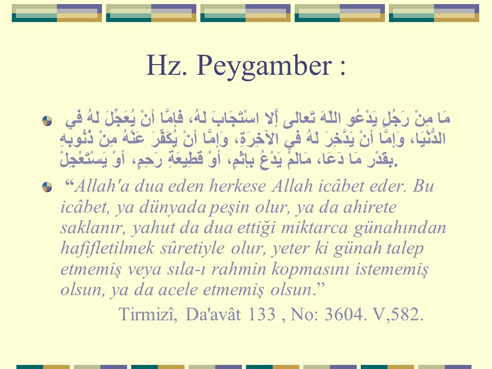Hz. Peygamber :