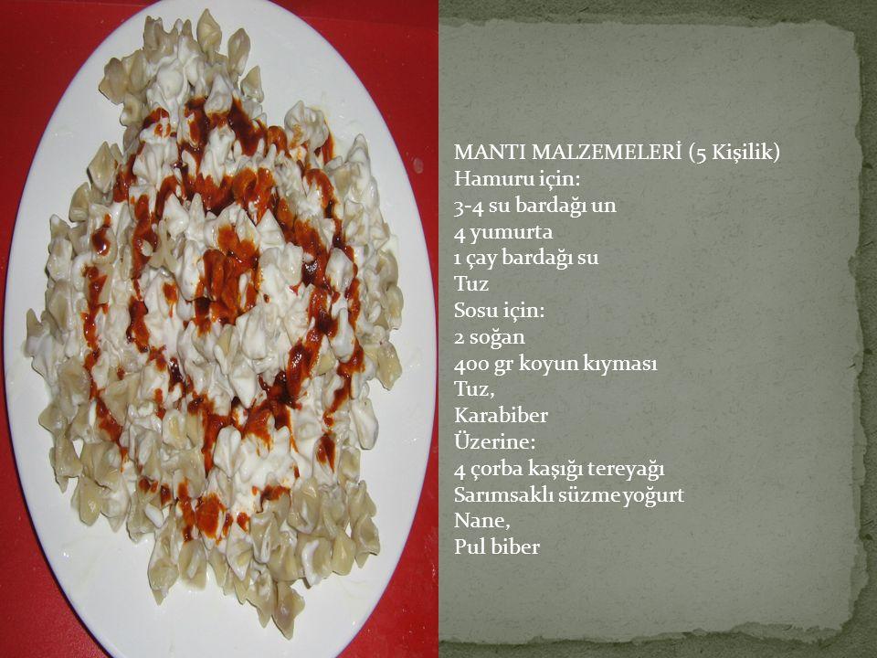 MANTI MALZEMELERİ (5 Kişilik)