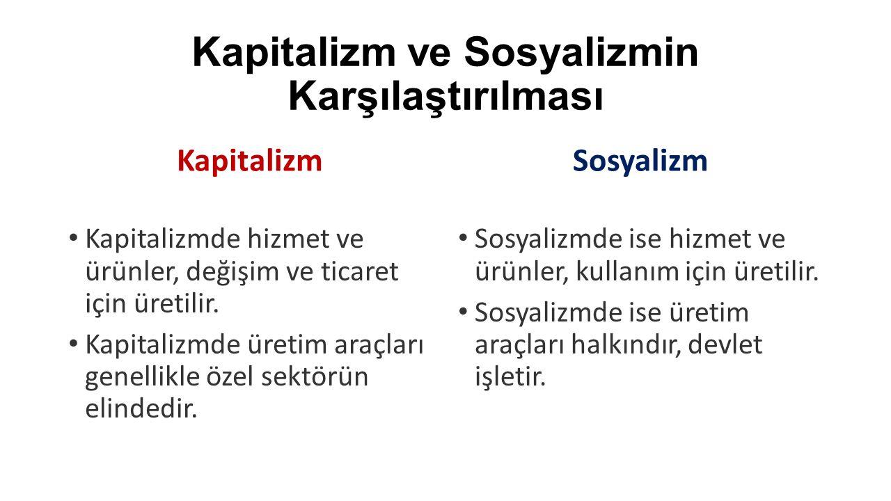 Kapitalizm ve Sosyalizmin Karşılaştırılması