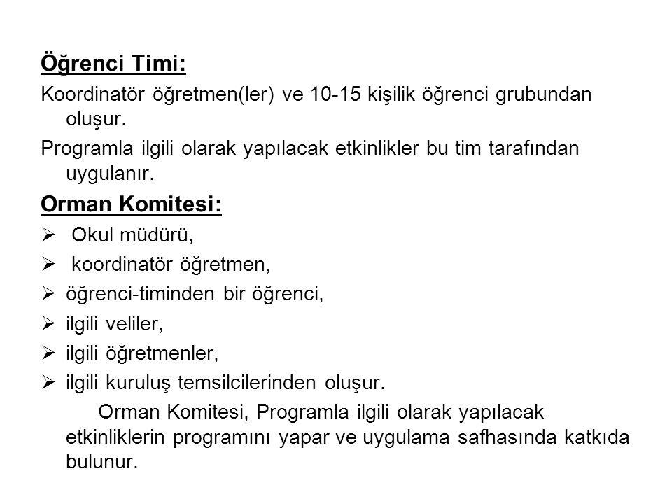 Öğrenci Timi: Orman Komitesi: