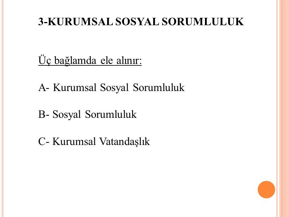 3-KURUMSAL SOSYAL SORUMLULUK