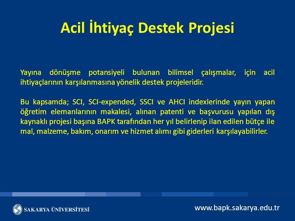 Acil İhtiyaç Destek Projesi