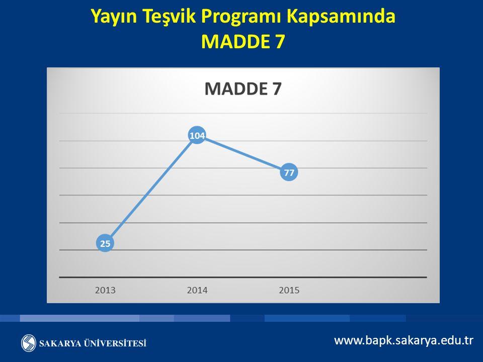 Yayın Teşvik Programı Kapsamında MADDE 7