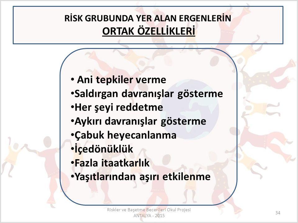 RİSK GRUBUNDA YER ALAN ERGENLERİN