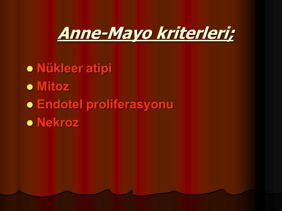 Anne-Mayo kriterleri;