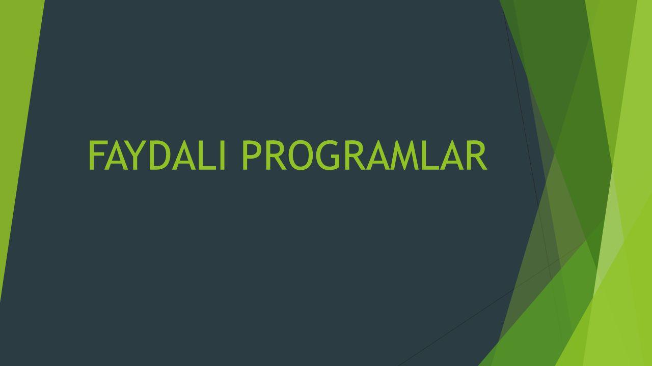 FAYDALI PROGRAMLAR