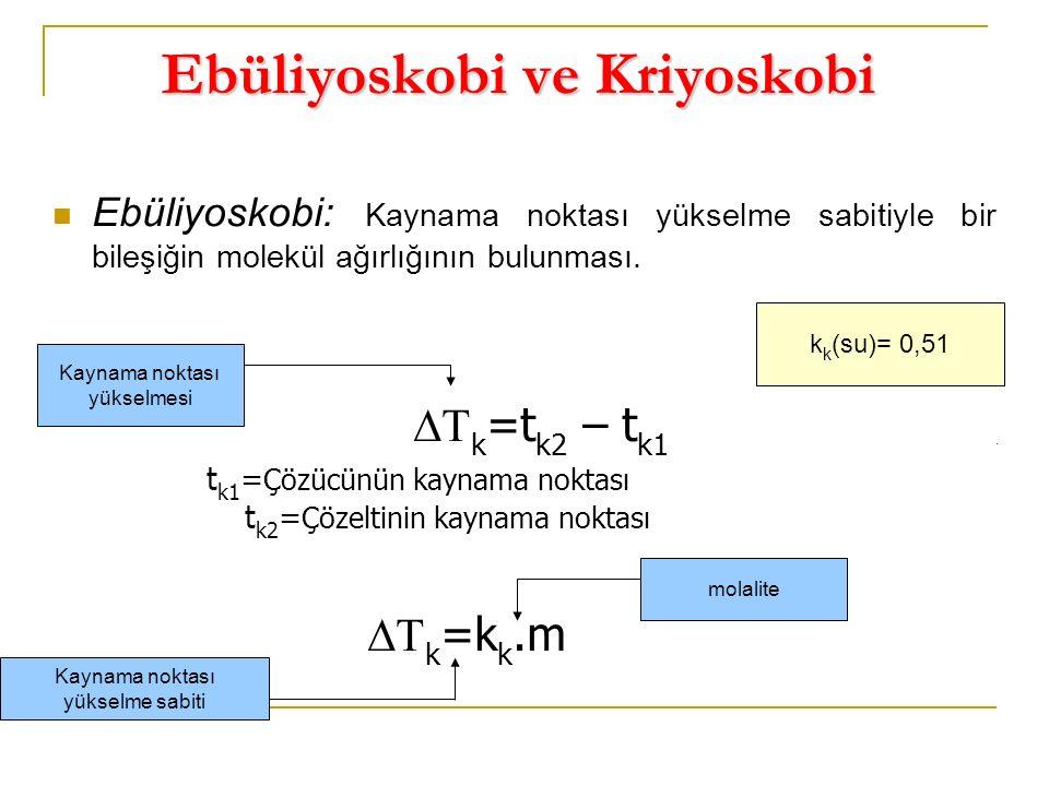 Ebüliyoskobi ve Kriyoskobi