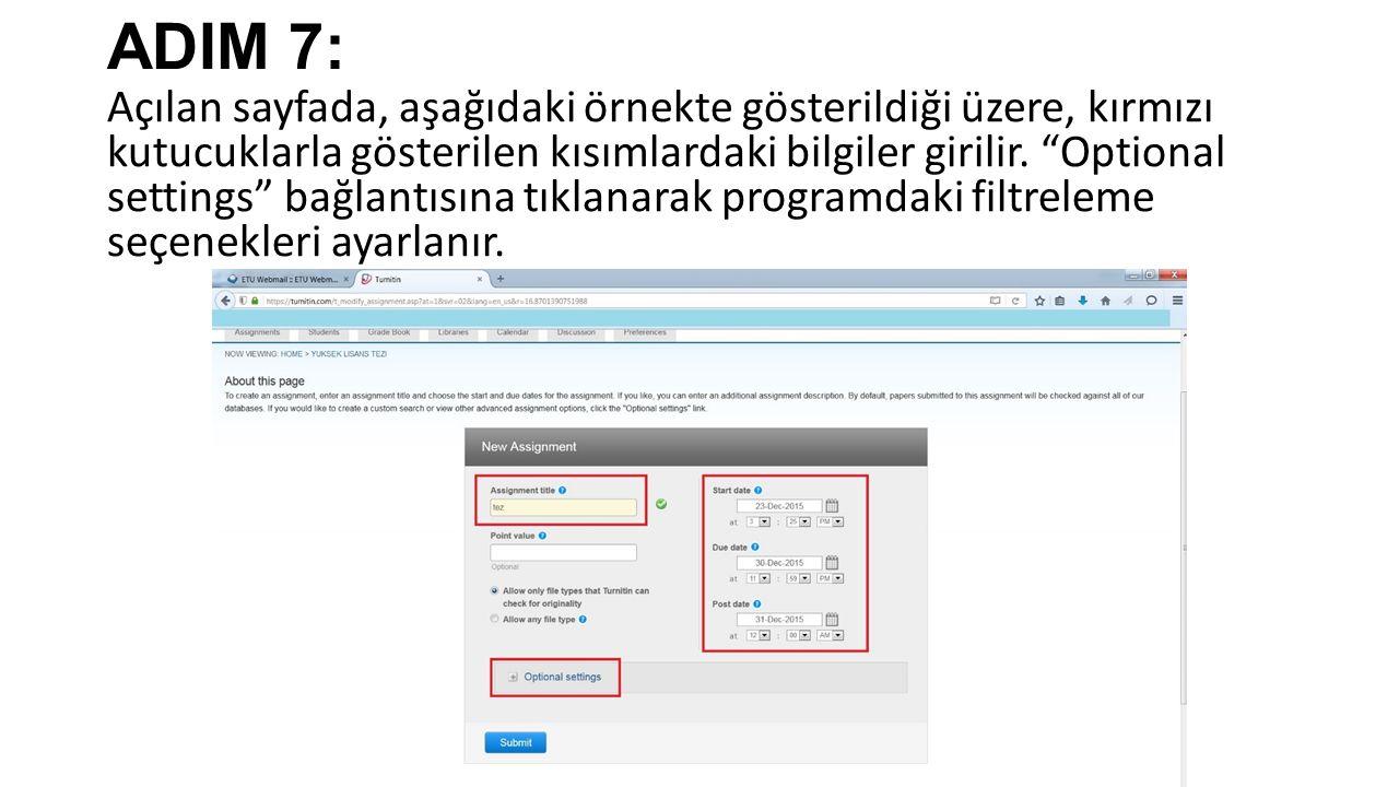 ADIM 7: