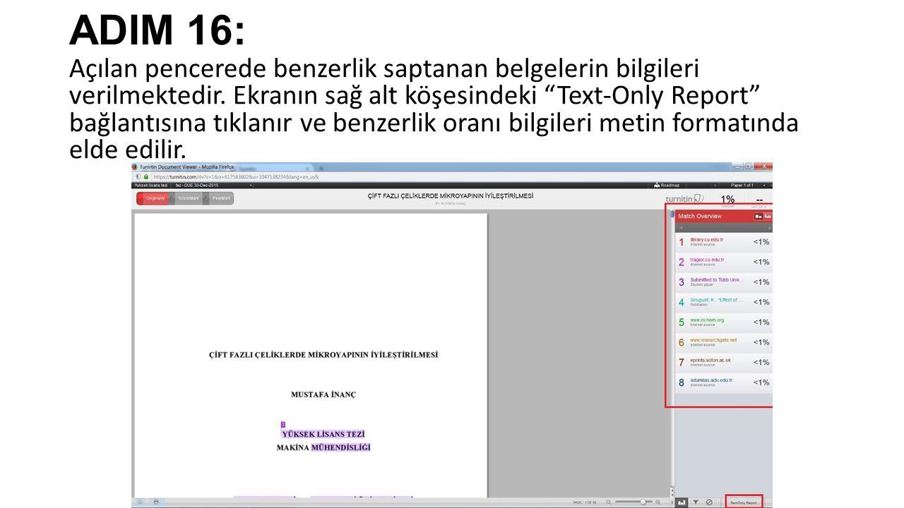 ADIM 16: