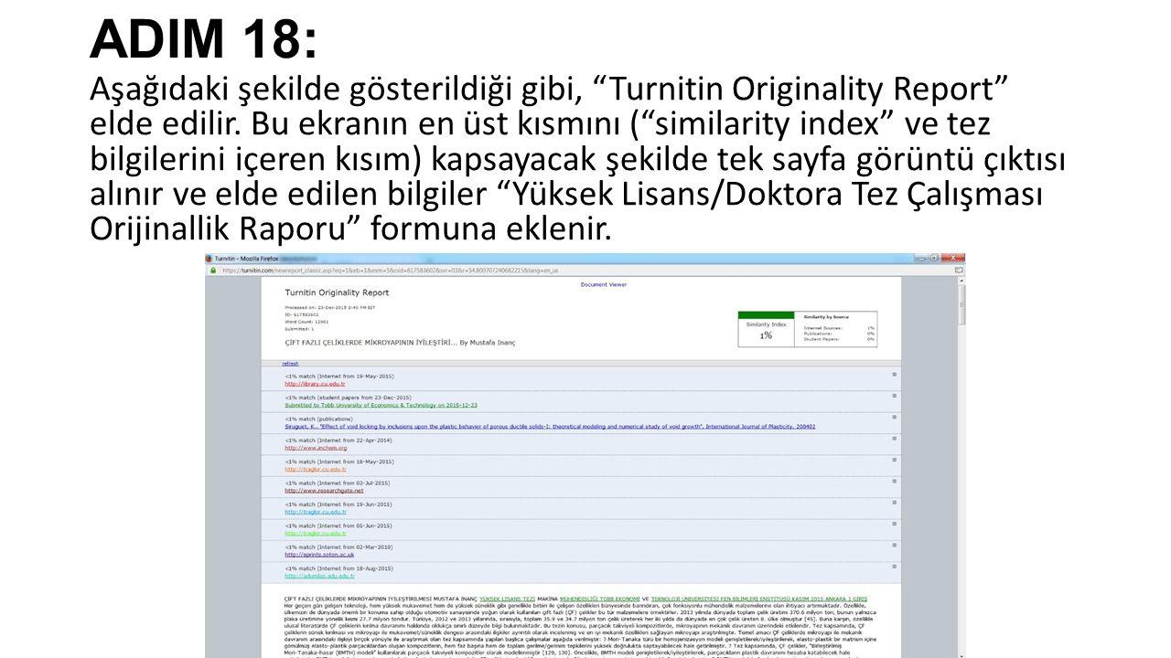ADIM 18:
