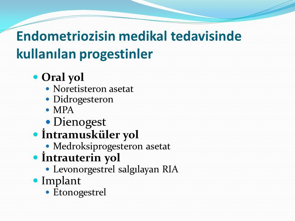 Endometriozisin medikal tedavisinde kullanılan progestinler