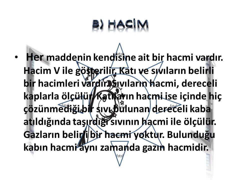 B) HACİM
