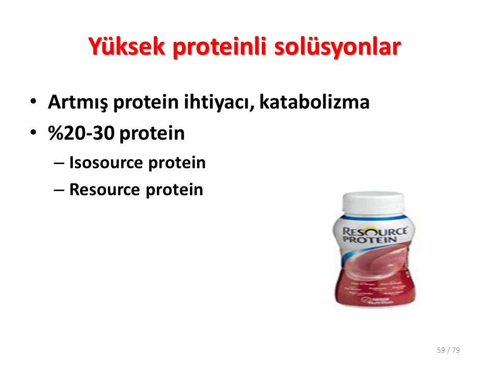 Yüksek proteinli solüsyonlar