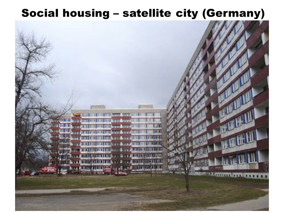 Social housing – satellite city (Germany)