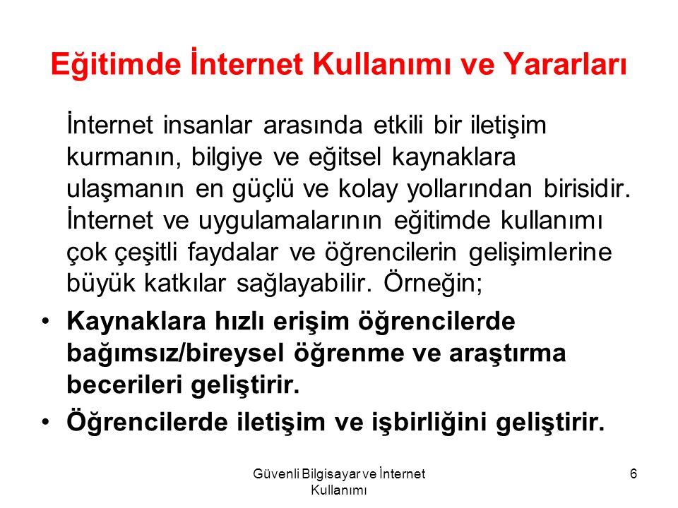 Eğitimde İnternet Kullanımı ve Yararları