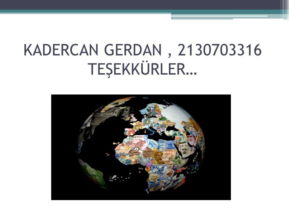 KADERCAN GERDAN , 2130703316 TEŞEKKÜRLER…