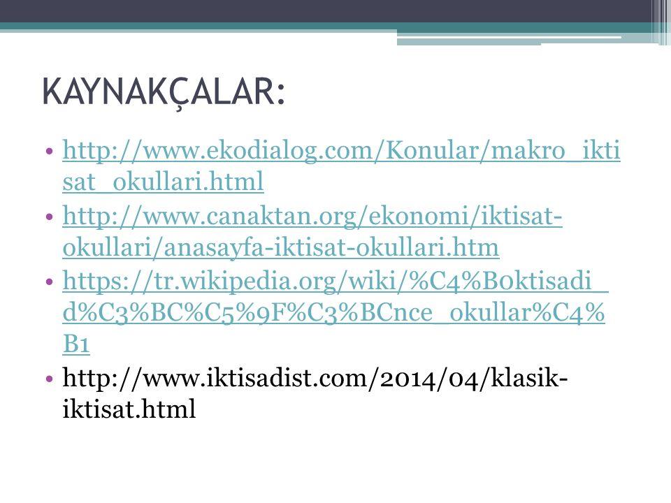 KAYNAKÇALAR: http://www.ekodialog.com/Konular/makro_ikti sat_okullari.html.