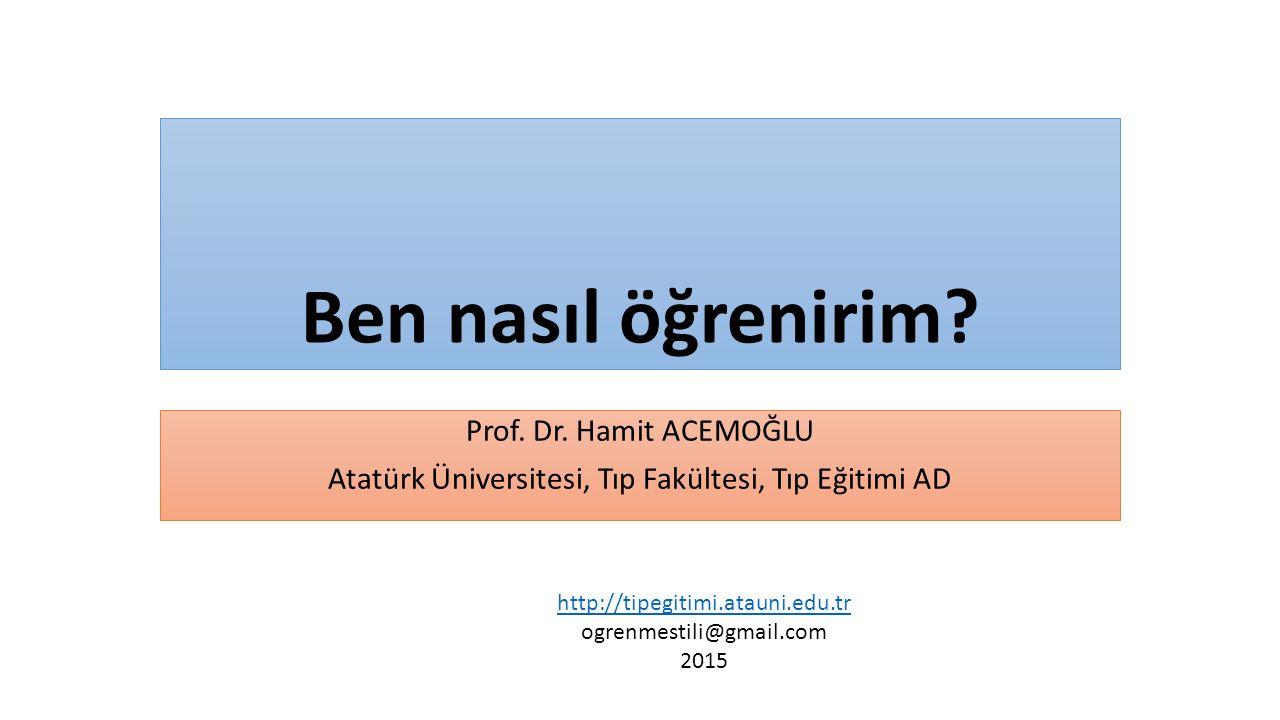 Atatürk Üniversitesi, Tıp Fakültesi, Tıp Eğitimi AD