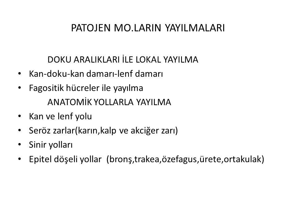 PATOJEN MO.LARIN YAYILMALARI