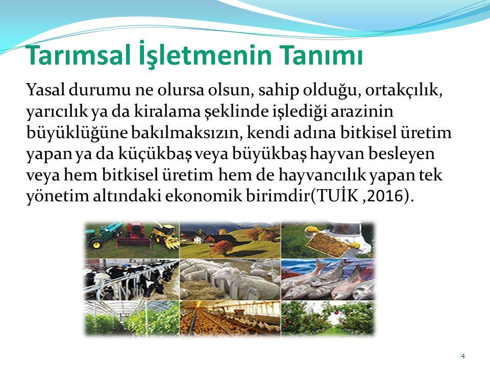 Tarımsal İşletmenin Tanımı