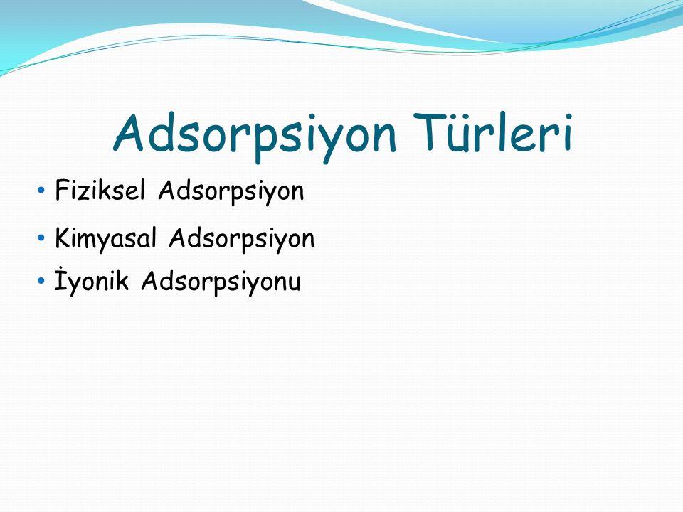 Adsorpsiyon Türleri Fiziksel Adsorpsiyon Kimyasal Adsorpsiyon