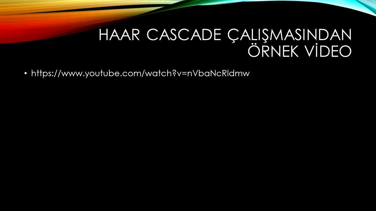 HAAR CASCADE ÇALIŞMASINDAN ÖRNEK VİDEO