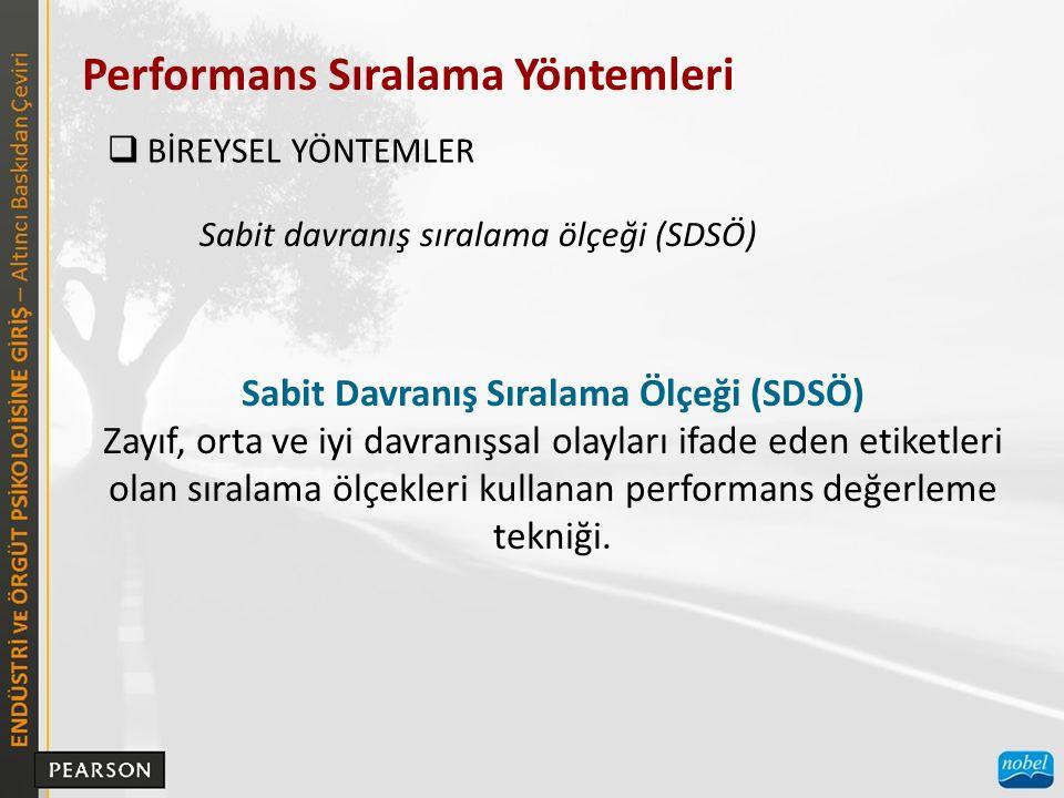Sabit Davranış Sıralama Ölçeği (SDSÖ)