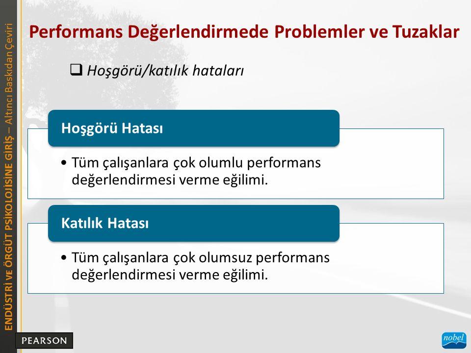 Performans Değerlendirmede Problemler ve Tuzaklar