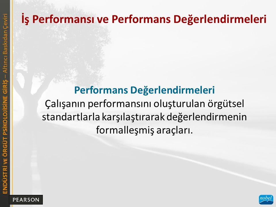 Performans Değerlendirmeleri